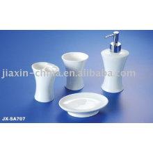 Porcelain bathroom accessories set JX-SA707