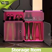 Cabinet fait sur commande de chaussure en plastique de meubles de stockage de placard