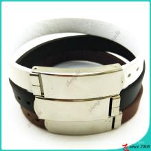 Pulsera de cuero clásico con joyería de diseño de hebilla (LB16041946)
