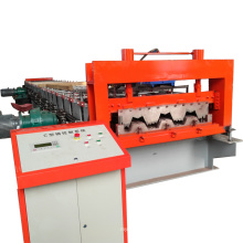 Made in china hebei galvanisierte kalte Stahlwand Dachziegel Panel Metallboden Deck Roll Formmaschine für Kolumbien