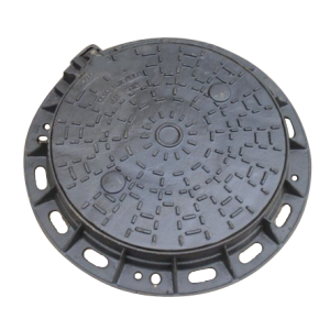 DI Round patterned Manhole Cover With Frame