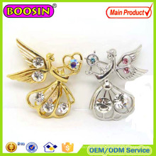 2016 Fashion Star Brooch/Gold Plated Angel Brooch with Butterfly Clutch #5931