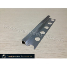 Bright Silver Aluminum Square Schluter Strip 8mm Height