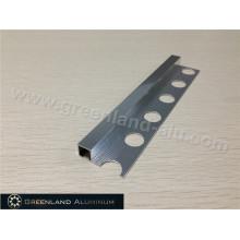 Brilhante prateado de alumínio Square Schluter Strip 8mm Altura