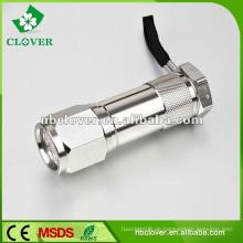 Mini 9 führte 12000-15000MCD Aluminium Material lange Reichweite Taschenlampe Fackel