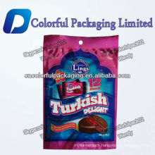 Customized 180g TURKISH DELIGHT 12 pieces foil lined chocolate ice cream packaging bag