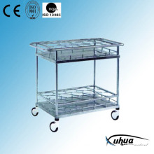 Stainless Steel Hospital Medical Bottle Transfer Cart (Q-29)