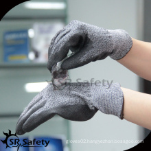 SRSAFETY PU coated cut resistant work glove for assembling metal parts