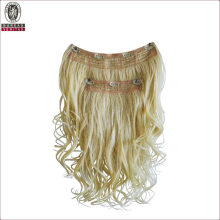 Wave Style Natural Long 18inch Remy Human Virgin Hair Extension Clip in Hair