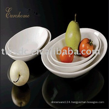 Hotel and restaurant white porcelain soup bowls-W11