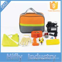 HF-4003 Heißer Verkauf 19 STÜCKE Auto Notfall Kit Outdoor Notüberlebens Werkzeug Auto Reparatur Sicherheit Werkzeuge Kits (CE zertifikate)