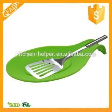 Simple y sano descanso de cuchara de silicona atractivo