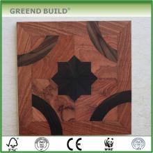 Suelo de parqué de madera maciza de nogal