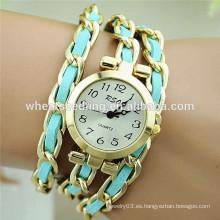 2015 nueva cadena de la aleación con la pulsera de reloj de la señora de la cuerda