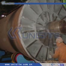 Pivot en acier usiné pour dragueur (USC-10-006)