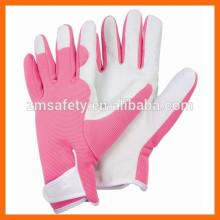Women Slim-fit Work Glove/Ladies Leather Garden Glove