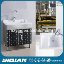Mobilier de maison Mobilier de meuble classique en acier inoxydable pour salle de bain Meuble de toilette en acier inoxydable monté au sol