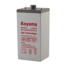 Bateria estacionária gelável de qualidade 2V confiável para UPS 2V300AH