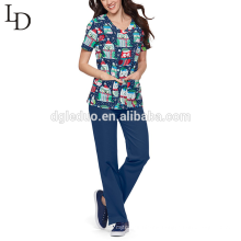Ladies design medical wear nurse uniform for women