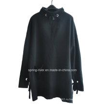 Дамская шерстяная акробатическая пуловерная длинная одежда вязания свитера
