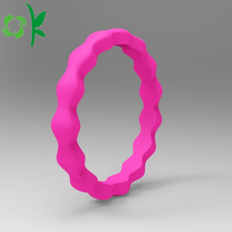 silicone deep pink ring