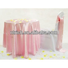 Terrific satin table linens for wedding and banquet
