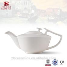 Sistema de té al por mayor de China, juego de té de cerámica, tetera blanca del restaurante