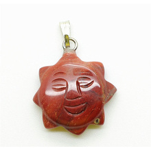 Colgante Sun Shape Red Jasper