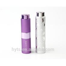 Atomizador recarregável do perfume da torção de alumínio do estilo 8ml novo