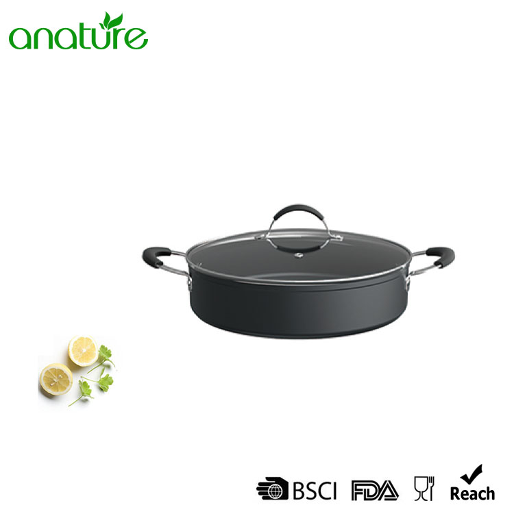 Forged Kitchen Aluminum Hard Anodized Painting Cookware set