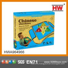 Интересные магнитные китайские шашки Игрушечные детские игры в помещении