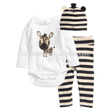2016 Langarm 100% Baumwolle Tier gedruckt Cartoon Baby Kleidung Strampler