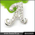 Personized Letter Name Inicial Broche De Carta De Strass