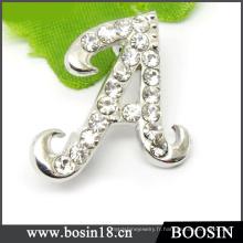 Lettre nom personnalisé broche lettre initiale en strass