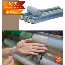 PVC azul PVC filme de colchão embalagem folha macia para pacote