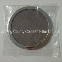 Stainless Steel Wrapped Edge Filter Mesh Disc