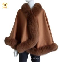 Caixão de pele de luxão de luxo de alta qualidade e cabo de corte de pele de raposa