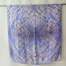 Silk Tie Dye Multicolor Bufanda Chica Big Size Sexo Chica para las mujeres Sarong