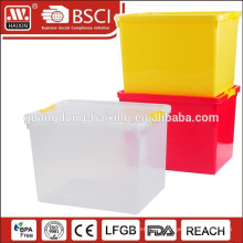 HAIXIN plastic storage packing boxes with wheels
