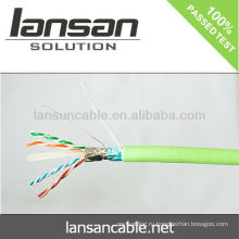 Высококачественный кабель Cat6a UTP / FTP / SSTP LAN проходит тест Fluke