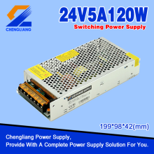 AC DC 24V 5A 120W LED-transformator