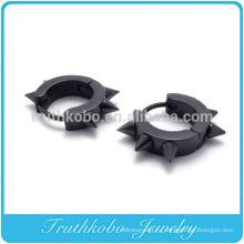 ТКБ-E0003 побрякушки мужские хирургическая нержавеющая сталь Хооп серьги заклепки черный