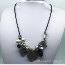 Collier de chaîne de pièces en alliage de perles (XJW13784)