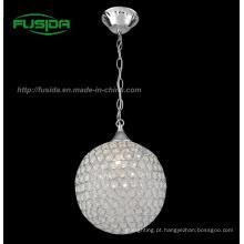 Novo design moderno uma luz cristal pingente de luz