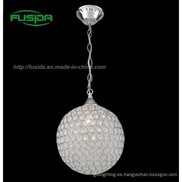 Nuevo diseño moderno una luz de cristal colgante de luz