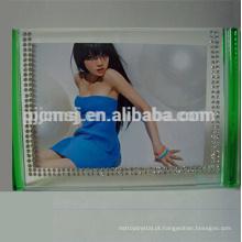 Moldura personalizada de alta qualidade, moldura colorida transparente