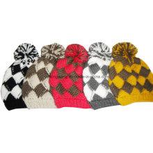 Мода зимняя леди Акриловые трикотажные шапочка черепа Hat / Cap