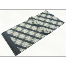 Men′s Reversible Cashmere Like Winter Warm Checked Diamond Printing Thick Knitted Woven Scarf (SP806)