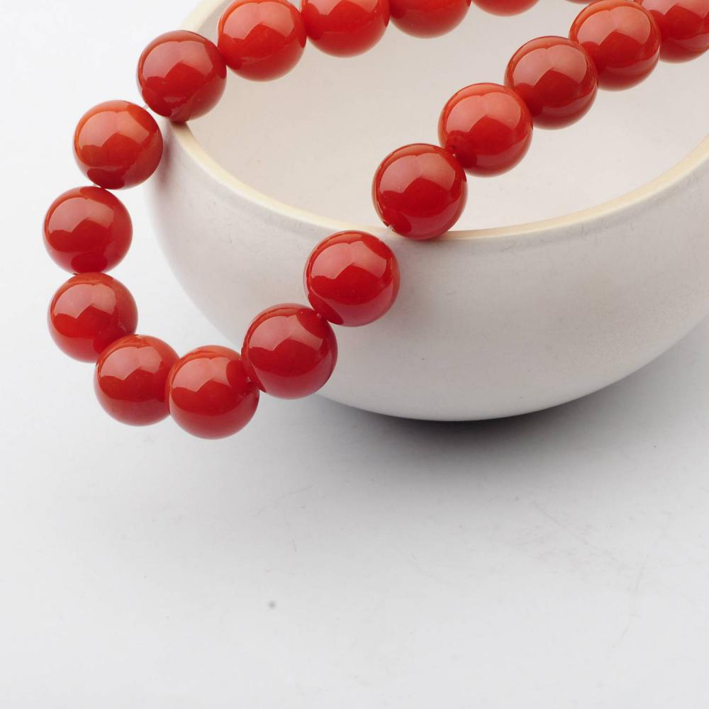 14MM Loose natural Carnelian Crystal Round Beads for Making jewelry