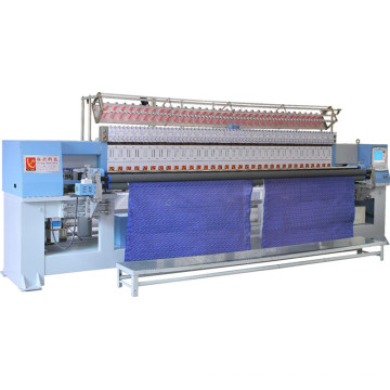Yuxing Quilting Embroidery Textile Machinery, Computerized Embroidery Quilter 33 Head, Quilt Embroidery Production Line Yxh-1-1-50.8